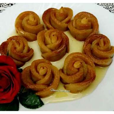 Photo of Sweet pototo baked rose by Uma Sarkar at BetterButter