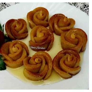 Photo of Sweet pototo baked rose by Uma Sarkar at BetterButter