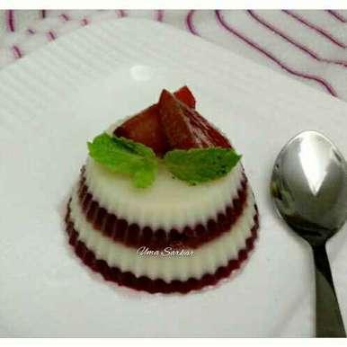 Coconut plum jellly cake recipe in Bengali,নারকেল প্লাম জেলি কেক, Uma Sarkar