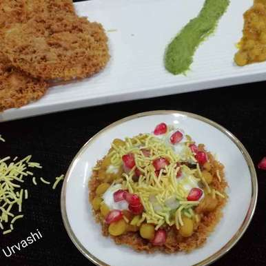 Photo of Ghevar chat by Urvashi Belani at BetterButter