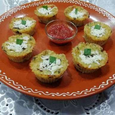 Cheesy muffins recipe in Gujarati, ચીઝી મફીન્સ, Urvashi Belani