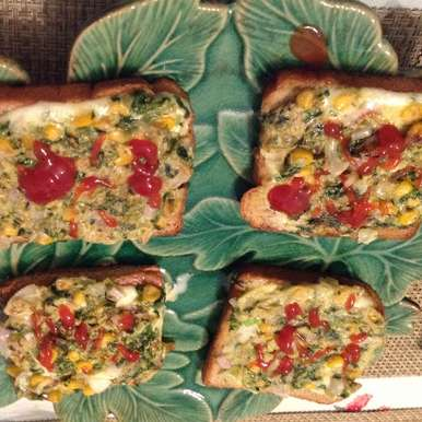 Photo of Methi Corn Cheese Toast by usha balagopal at BetterButter