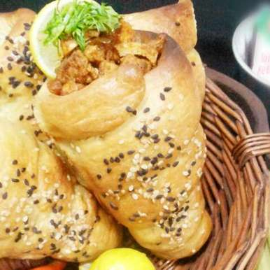 Photo of Chicken chat in baked bread cone by uzma shouab at BetterButter