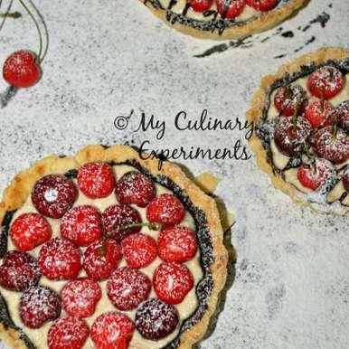 Photo of Ricotta, chocolate and cherry mini tarts by Vaishali Nagarajan at BetterButter