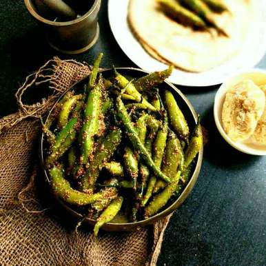 Rajasthani Green Chilli Pickle, How to make Rajasthani Green Chilli Pickle