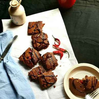 Photo of Red chilli brownies by Vandana Jangid at BetterButter
