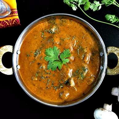 Photo of Mushroom Tikka Masala Recipe by Vanitha Bhat at BetterButter