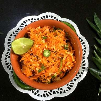Photo of Indian Grated Carrot Salad with Coconut by Vanitha Bhat at BetterButter