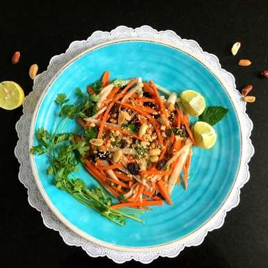 Photo of DAIKON AND CARROT SALAD with Homemade Dressing by Vanitha Bhat at BetterButter