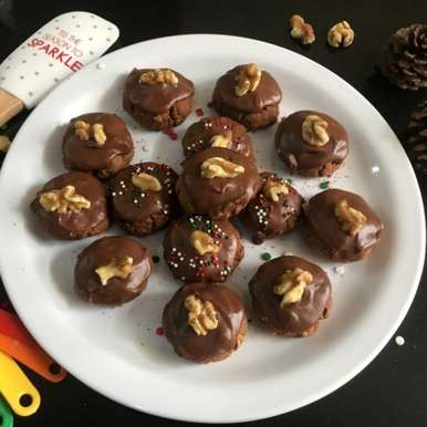 Photo of CHOCOLATE AFGHAN COOKIES/BISCUITS (Eggless) by Vanitha Bhat at BetterButter