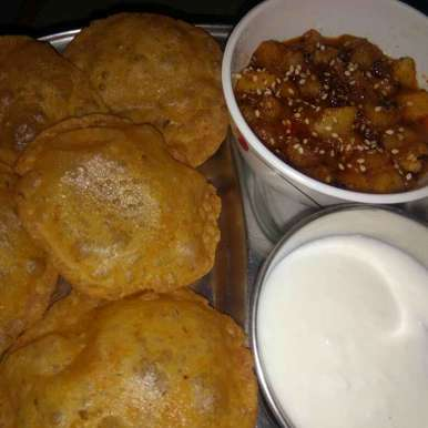 Photo of Apple Sabji With Farali Puri by Varsha Joshi at BetterButter