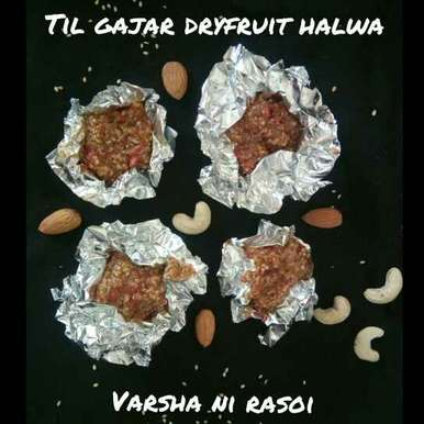 Photo of Til gajar dryfruit halwa by Varsha Joshi at BetterButter