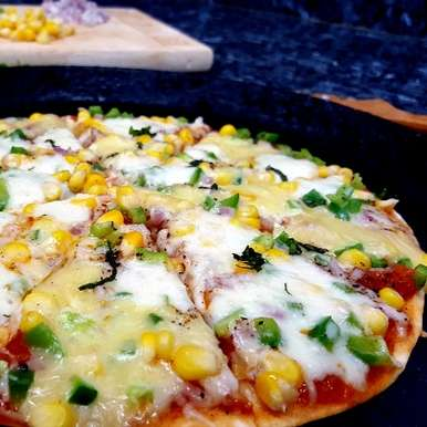 Photo of Grilled Tortilla Pizza with Marinara Sauce by Vibha Bhutada at BetterButter