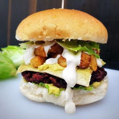 Photo of The Ultimate Veggie Burger with Tartare Sauce by Vibha Bhutada at BetterButter