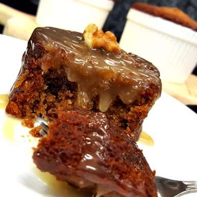 Photo of Sticky Date Pudding With Butterscotch Sauce by Vibha Bhutada at BetterButter