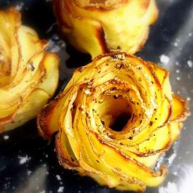 Photo of Crispy Potato Roses by Vibha Bhutada at BetterButter