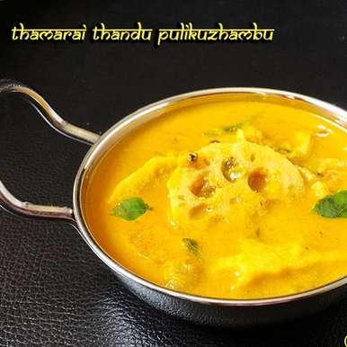 Photo of Lotus Stem Curry - Thamaraithandu PuliKuzhambu by Vins Raj at BetterButter