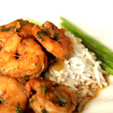 Photo of Cajun Spiced Shrimp with Aromatic Rice and Sauteed Asparagus by Winola Peris at BetterButter