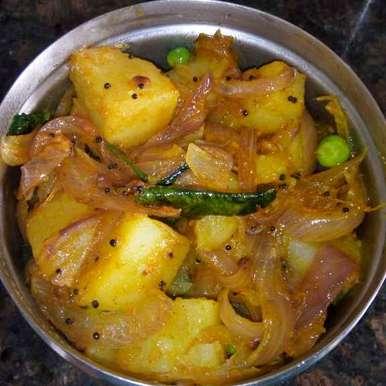 Photo of Aloo Peas masala(South Indian style) by Vasuyavana  at BetterButter