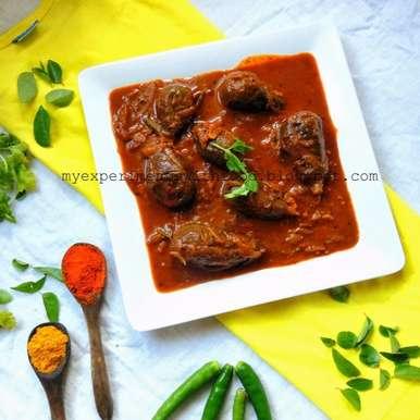 Photo of Stuffed Brinjal Curry/ Gutti Vankaya Curry/ Vazhuthananga Niracha Curry by Zareena Siraj at BetterButter