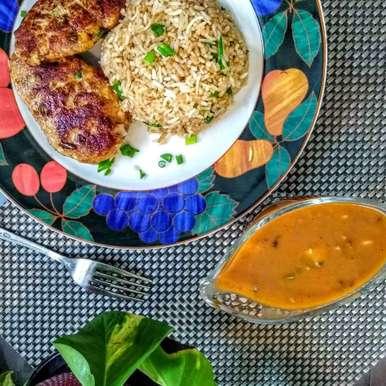 Photo of Chicken Mince Steak with Mushroom sauce by Zeba f lari at BetterButter