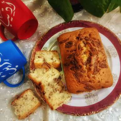 Photo of Walnut Pound Cake with chocolate chunks by Zeba f lari at BetterButter