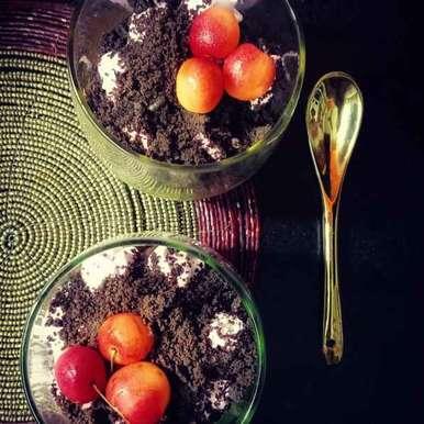 Photo of Chocolate Oreo Cherry Mousse by Zeba f lari at BetterButter