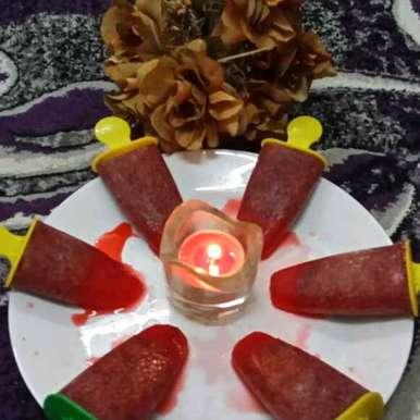 Roohafza/Basil Ice Lollies, How to make Roohafza/Basil Ice Lollies