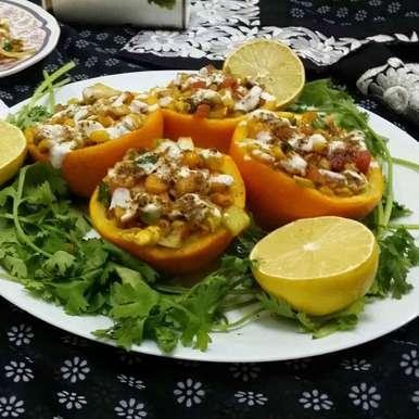 Photo of Corn Chaat in Orange Bowls.... by Zeenath Muhammad Amaanullah at BetterButter