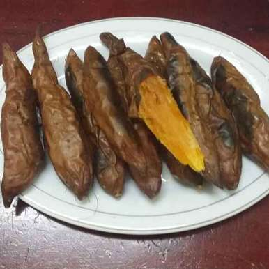 Photo of Baked Sweet Potatoes... by Zeenath Muhammad Amaanullah at BetterButter