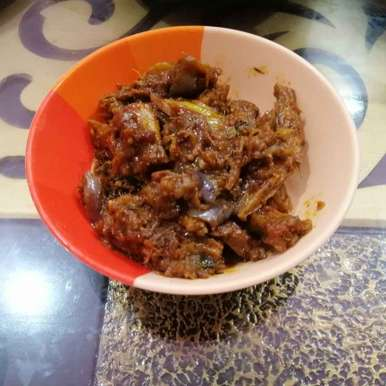 Photo of Bombay Duck and Brinjal Fry by Zeenath Muhammad Amaanullah at BetterButter