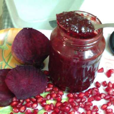 Home Made Anaar Beet Jam No Preservative
