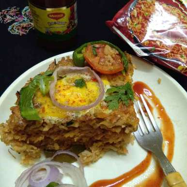 Photo of Maggi cabbage chicken egg pola in a pot by Zulekha Bose at BetterButter