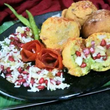 Stuffed batata vada recipe in Hindi,स्टफ्ड बटाटा वड़ा, Zulekha Bose